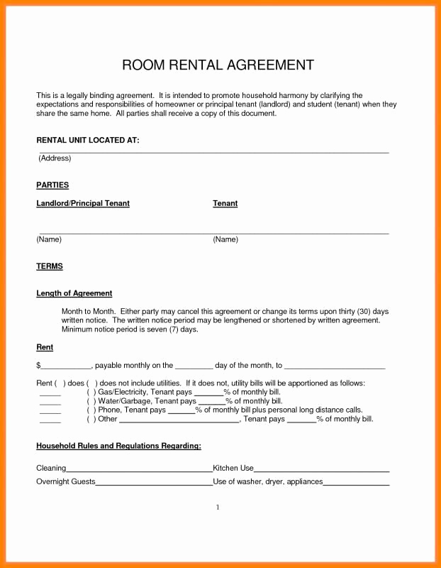 Simple Rental Agreement Pdf Best Of Simple Month to Month Rental Agreement Template