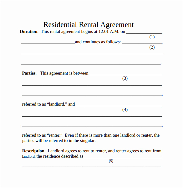 Simple Rental Agreement Pdf Fresh Simple Rental Agreement 11 Download Free Documents In