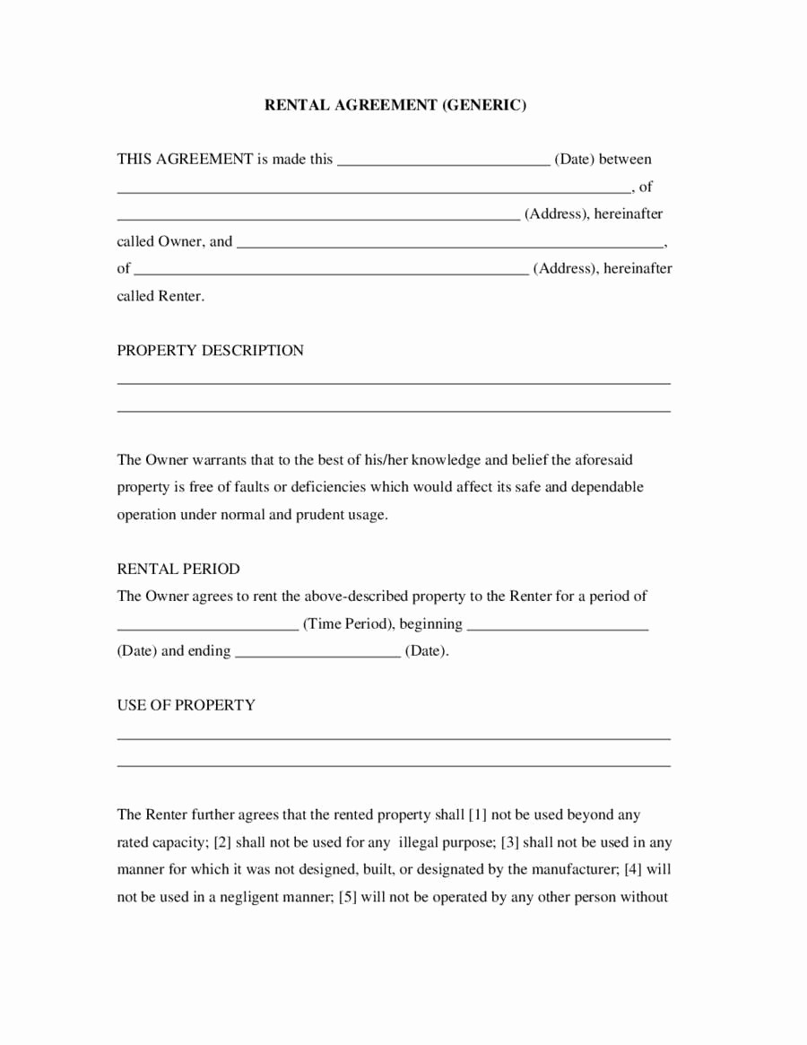 Simple Rental Agreement Pdf New Easy Lease Agreement Last Simple Rent Agreement form Qe