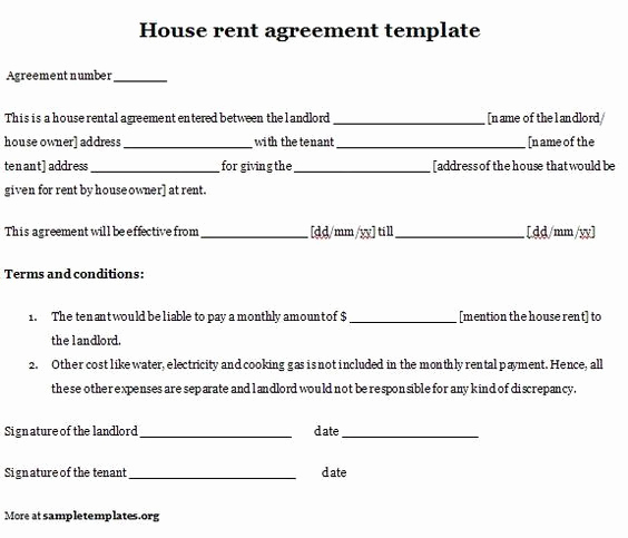 Simple Rental Agreement Pdf New Printable Sample Simple Room Rental Agreement form …