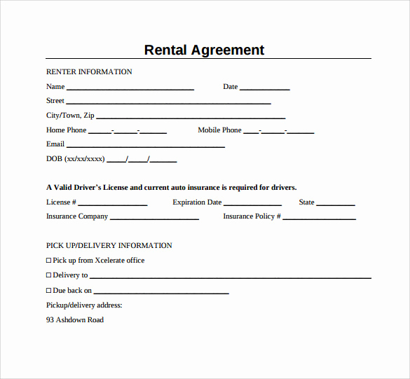 Simple Rental Agreement Pdf New Sample Generic Rental Agreement 6 Free Documents In Pdf