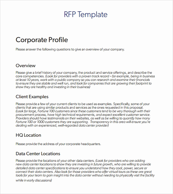 Simple Request for Proposal Example Lovely Sample Rfp Template 8 Free Documents In Pdf Word