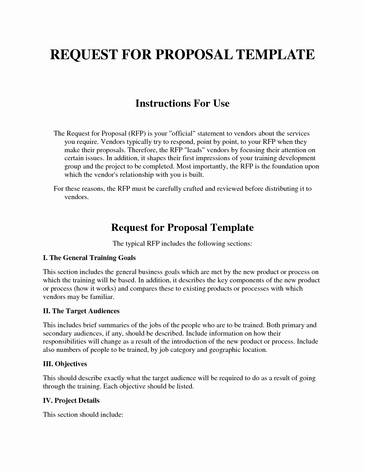 Simple Request for Proposal Example New Template Design Part 198