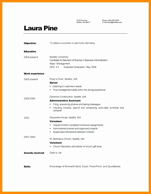 Simple Resume format Pdf Beautiful Indian Curriculum Vitae format Pdf