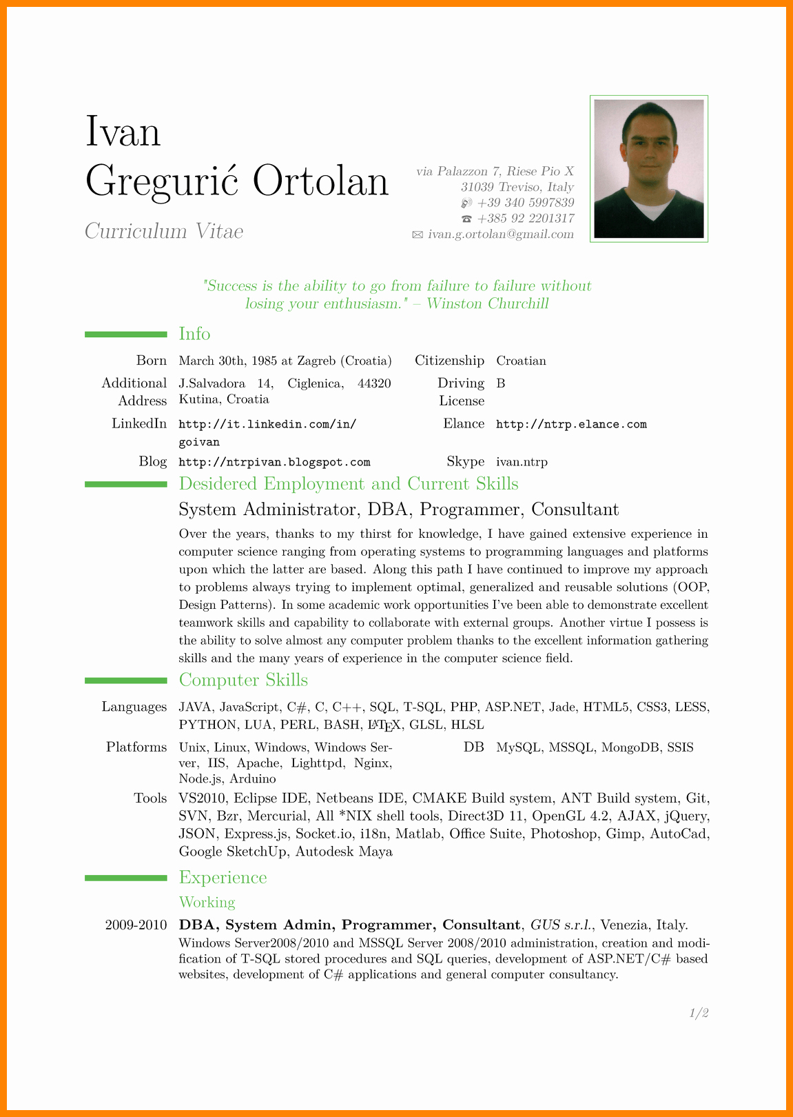 Simple Resume format Pdf Best Of 9 Cv In English Example Doc