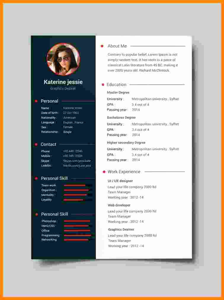 Simple Resume format Pdf Fresh 10 Cv format Template Pdf