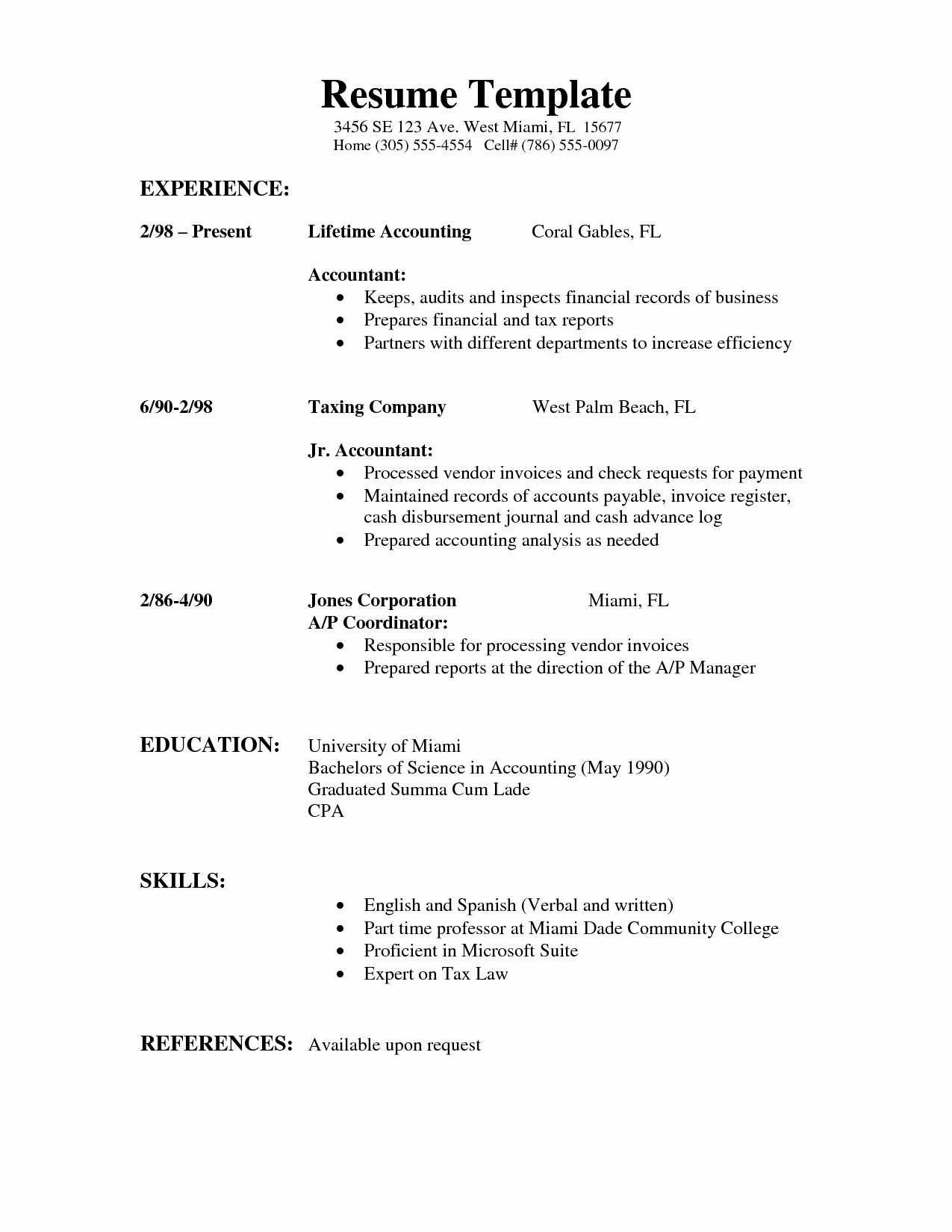 Simple Resume format Pdf Inspirational Resumes Resume Examples Projects to Try
