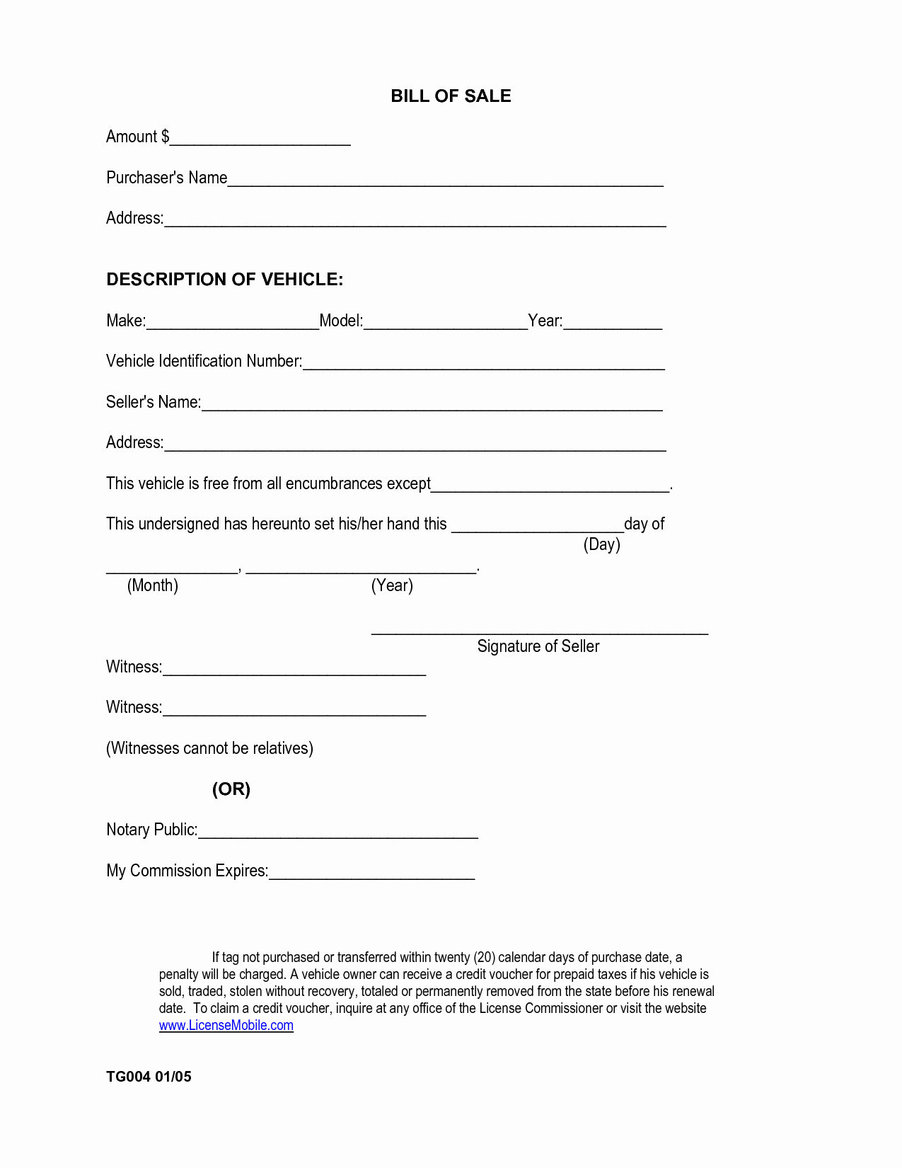 Simple Vehicle Bill Of Sale Best Of Free Printable Car Bill Of Sale form Generic