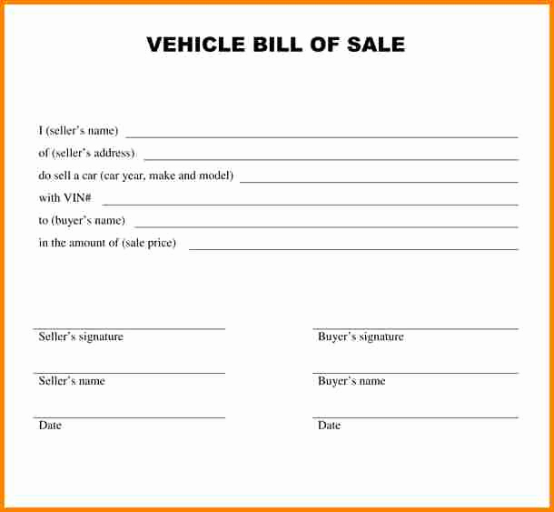Simple Vehicle Bill Of Sale Elegant 5 Bill Of Sale Alabama Car