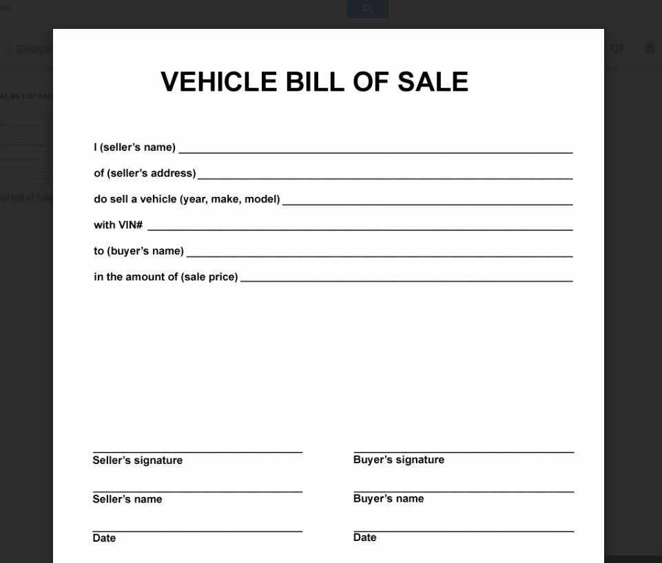Simple Vehicle Bill Of Sale Unique Deeauvil Freebie Friday Simple Free Bill Of Sale