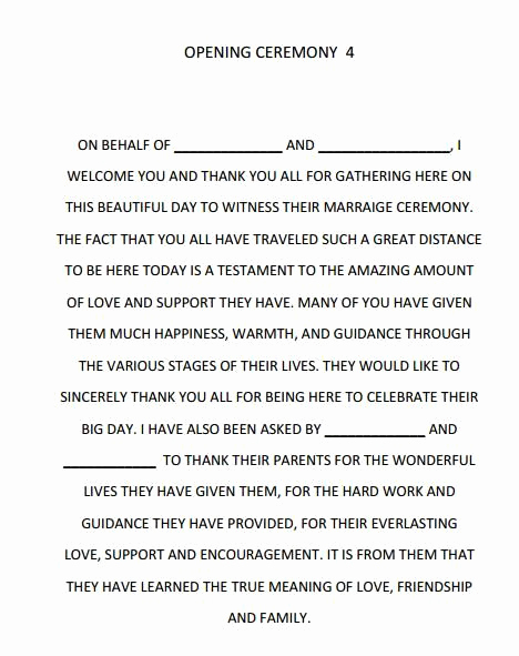 Simple Wedding Ceremony Outline Best Of Dreams Riveria Cancun Opening Ceremony Script