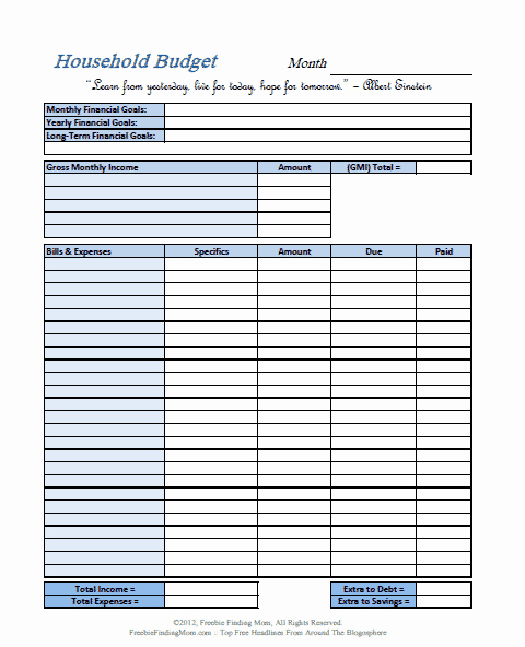 Simple Weekly Budget Template Elegant Free Printable Bud Worksheets