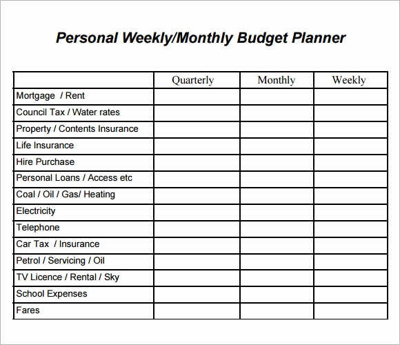 Simple Weekly Budget Template Lovely 8 Weekly Bud Samples Pdf Word