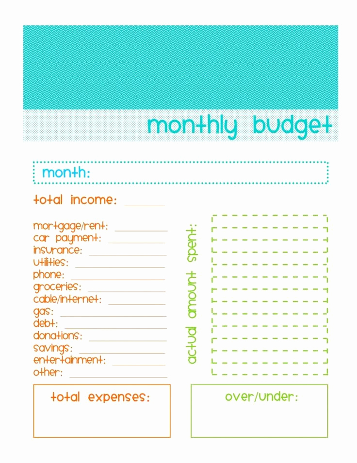 Simple Weekly Budget Template Lovely Free Monthly Bud Ing Worksheet