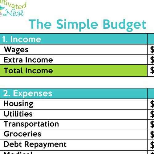 Simple Weekly Budget Template Lovely How to Make A Simple Bud