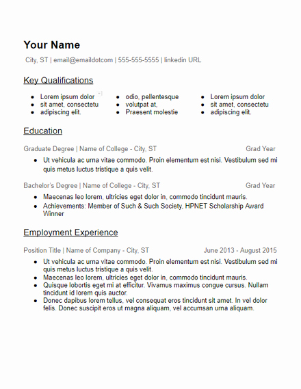 Skills Based Resume Template Free Awesome Skills Based Resume Templates Free to Download