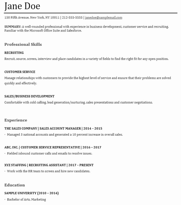 Skills Based Resume Template Free Inspirational Functional Resumes Samples and Tips for Writing A Skills