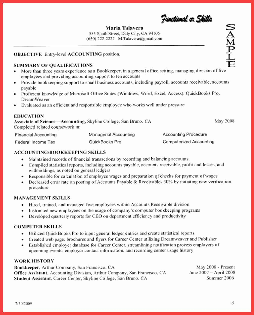 Skills Based Resume Template Free Lovely Puter Proficiency Resume