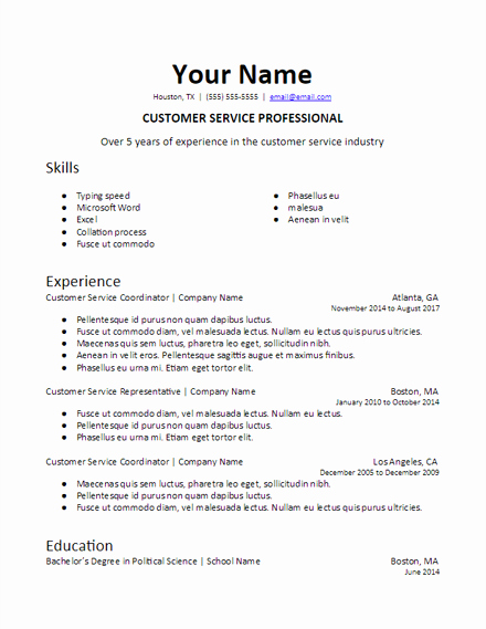 Skills Based Resume Template Free Luxury Skills Based Resume Templates Free to Download