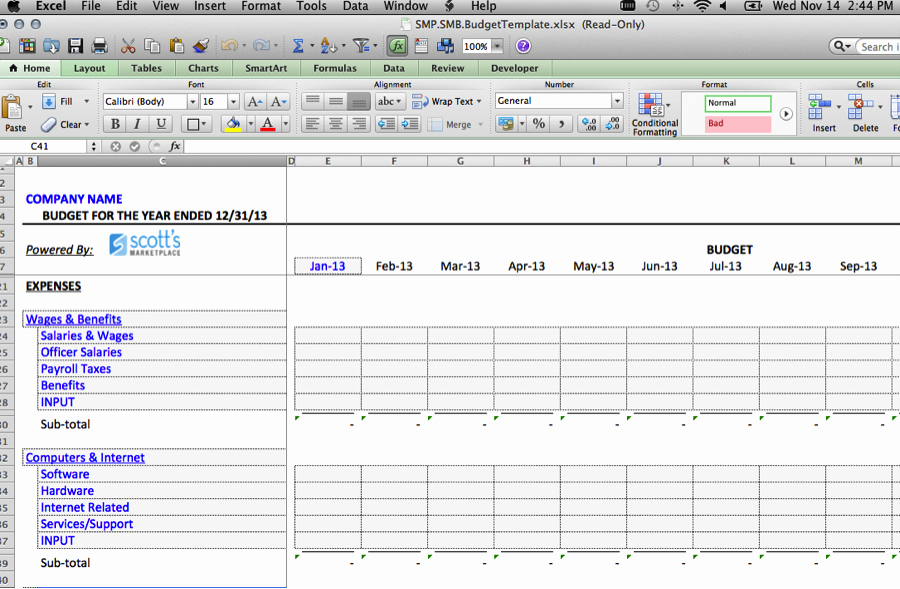 Small Business Budget Template Luxury Excel Template for Small Business