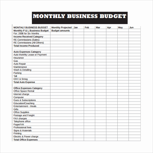 Small Business Budget Template Unique 14 Sample Business Bud Templates Word Pdf Excel
