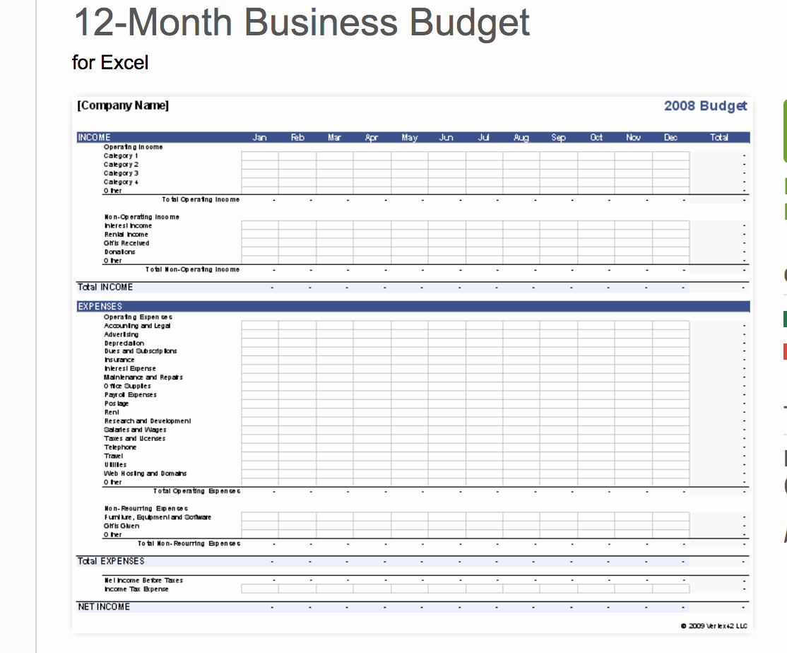 Small Business Budget Template Unique 7 Free Small Business Bud Templates