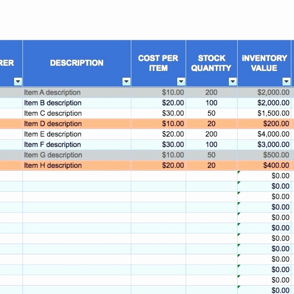 Small Business Inventory Spreadsheet Template New Small Business Inventory Spreadsheet – Amandae
