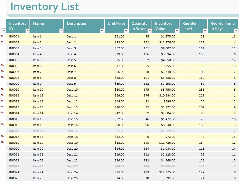 Small Business Inventory Spreadsheet Template Unique Small Business Inventory Templates for Excel Enabling