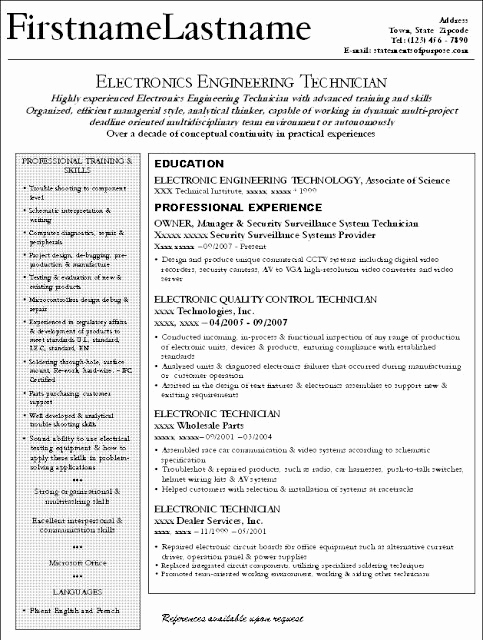 Small Business Owner Resume Fresh Good Electronic Engineer Technician and Small Business