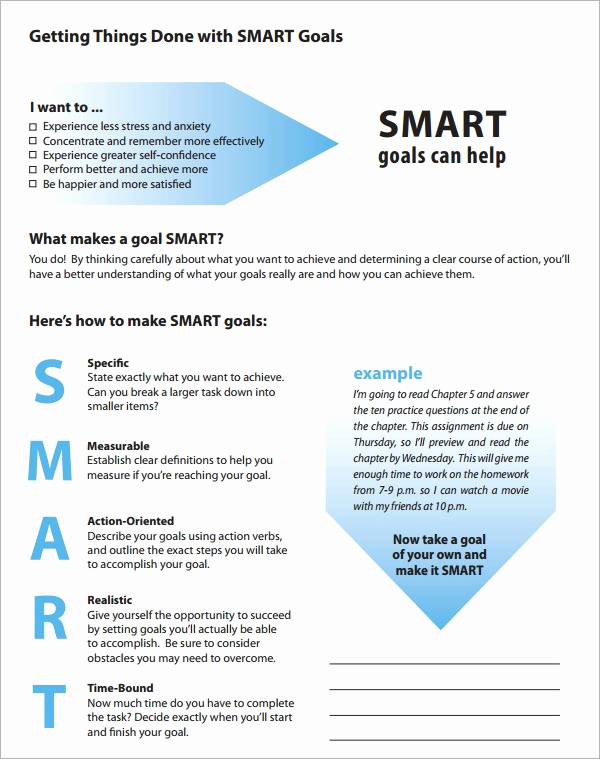 Smart Goals Examples for Work Unique Smart Goals Template 15 Download Free Documents In Pdf