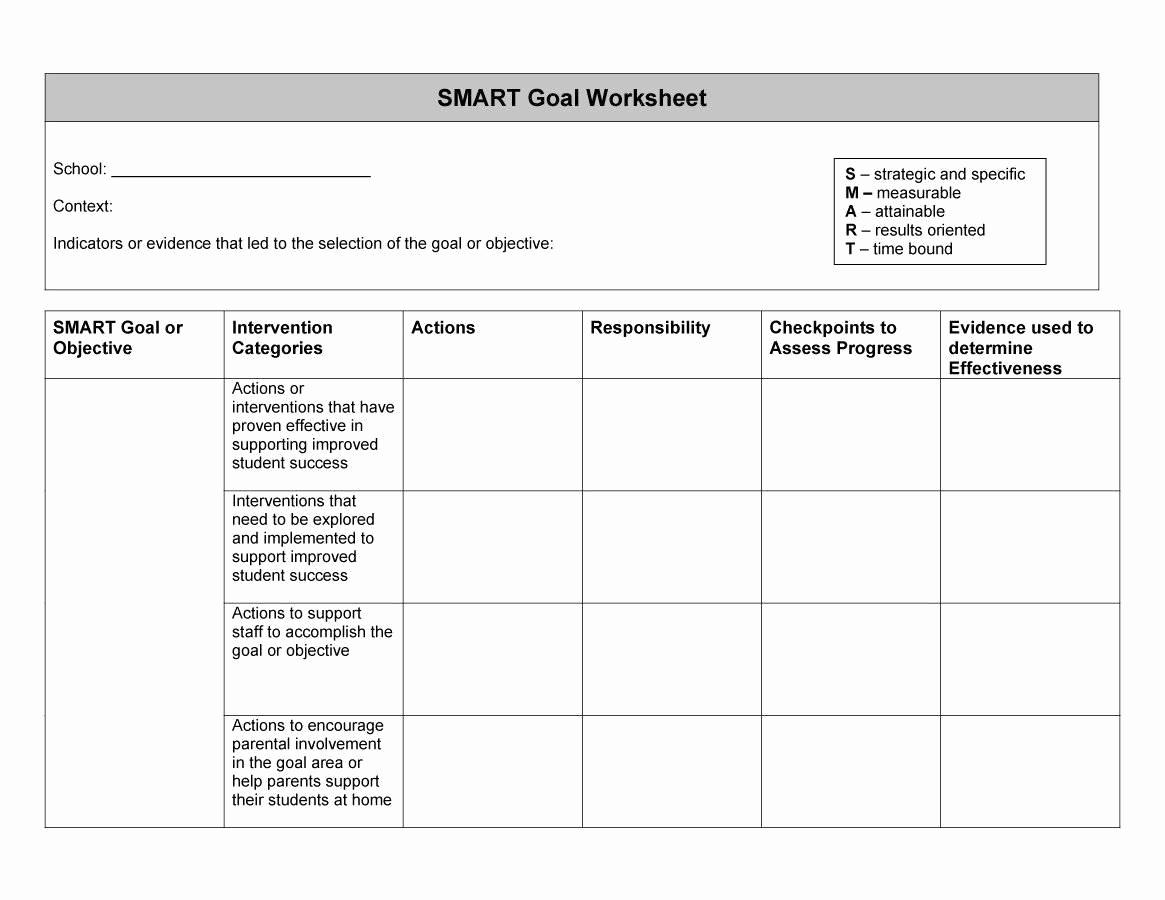 Smart Goals Worksheet Pdf Beautiful Smart Goals Template