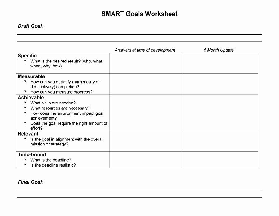 Smart Goals Worksheet Pdf Best Of 15 Smart Goals Worksheet Pdf