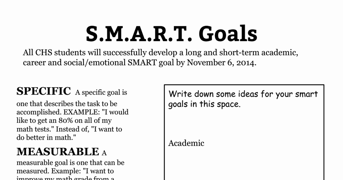 Smart Goals Worksheet Pdf Fresh Smart Goals Worksheet 2014 2015 Pdf Google Drive
