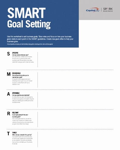 Smart Goals Worksheet Pdf Luxury Printable Smart Goals Template