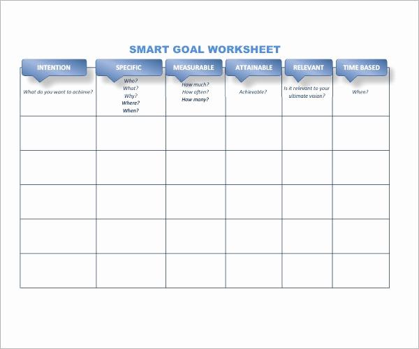 Smart Goals Worksheet Pdf Luxury Smart Goals Template 15 Download Free Documents In Pdf