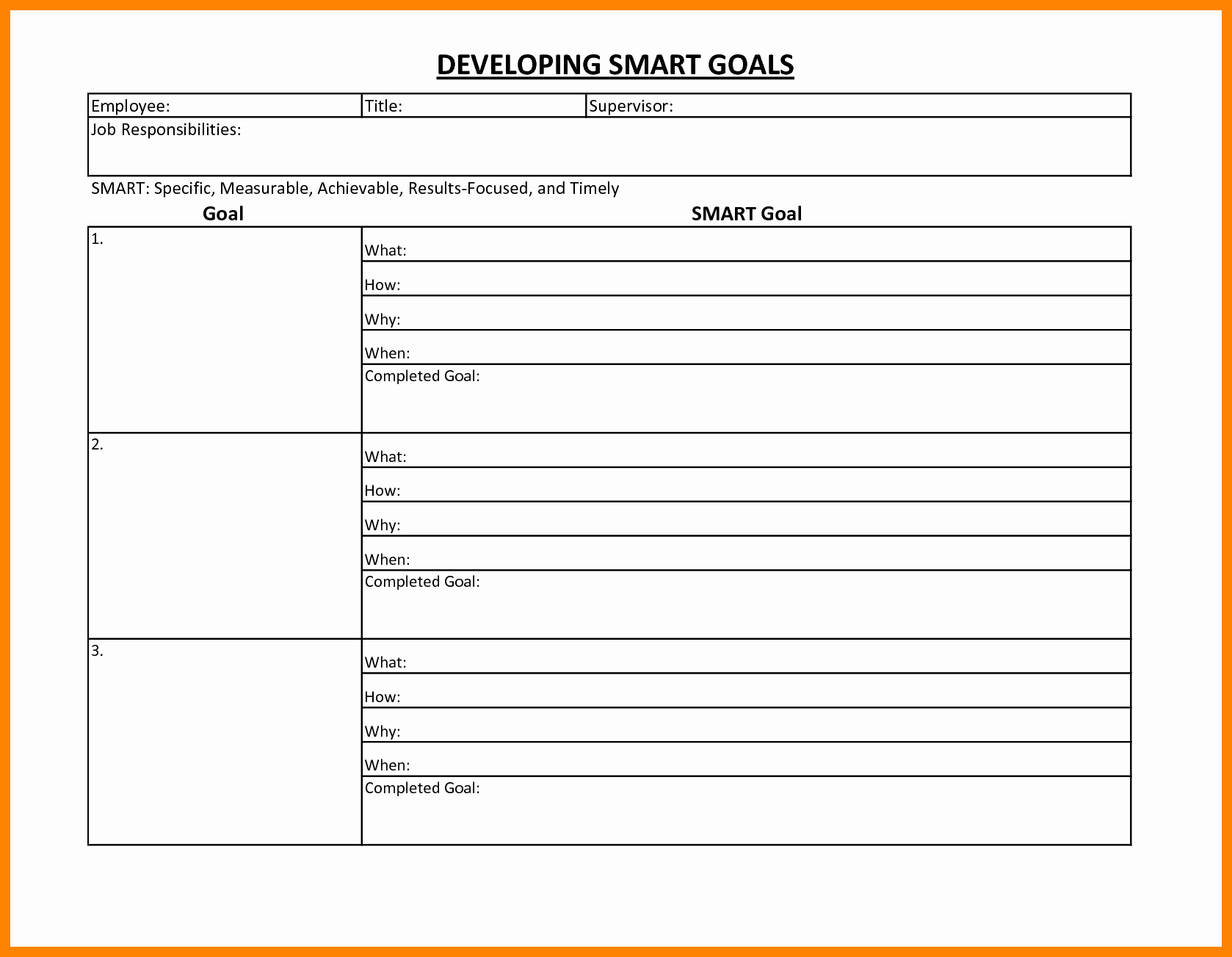 Smart Goals Worksheet Pdf New Smart Goals Template