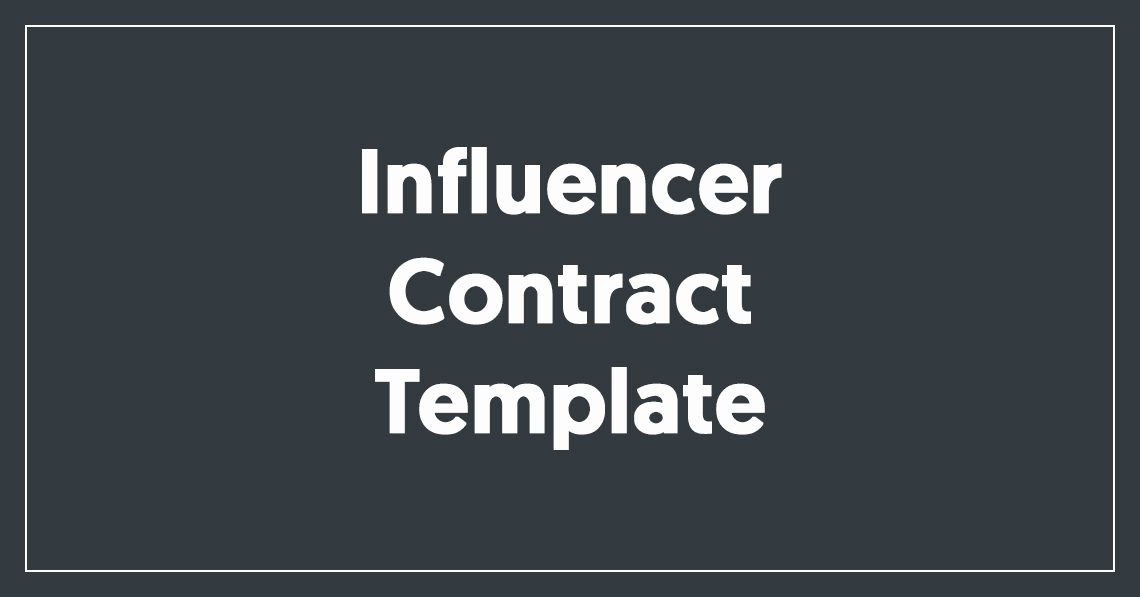 Social Media Contract Template Elegant Influencer Contract Template [free Download]