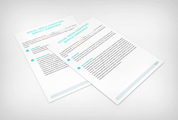 Social Media Contract Template Inspirational social Media Marketing Service Agreement Contract Template