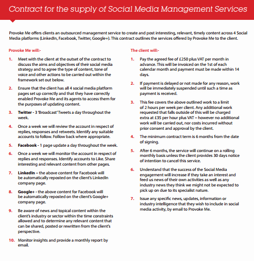 Social Media Contract Template Luxury social Media Contract Templates Find Word Templates