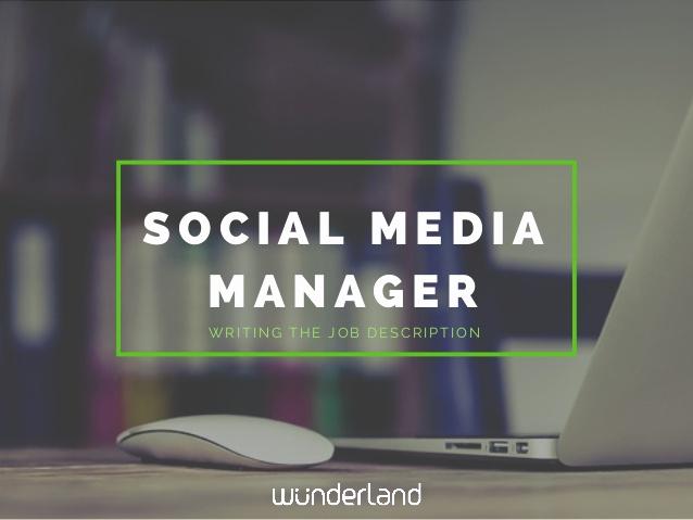 Social Media Management Contract Fresh social Media Manager Writing the Job Description
