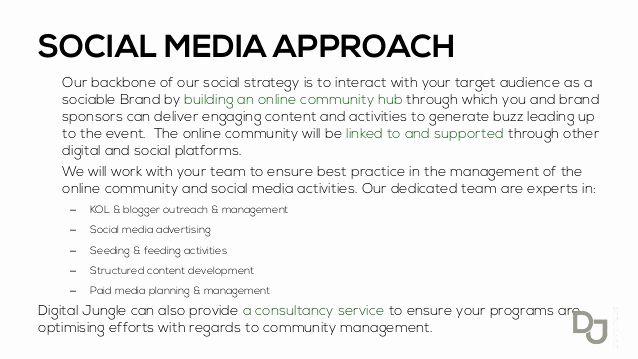 Social Media Management Contract Lovely Sample Website Proposal Presentation