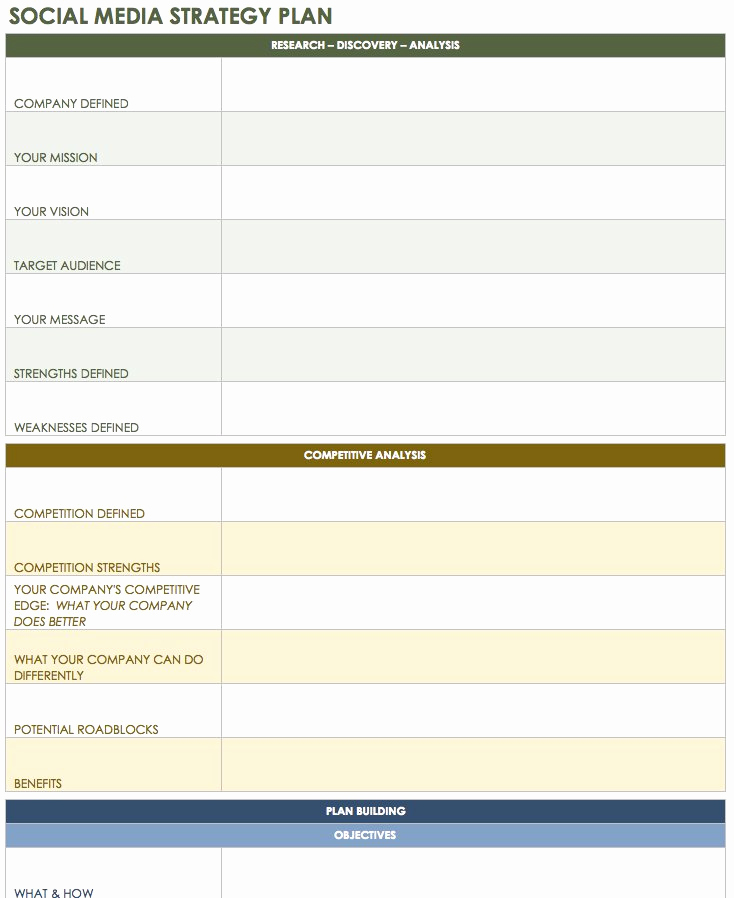 Social Media Marketing Plan Templates Best Of 12 Free social Media Templates