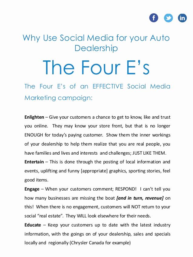 Social Media Marketing Proposal Best Of social Media Marketing Proposal for An Auto Dealership