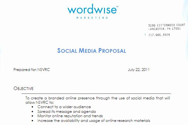 Social Media Marketing Proposal Lovely social Media Proposal