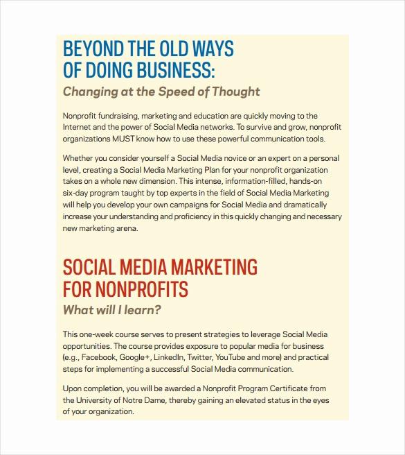 Social Media Marketing Proposal New 9 social Media Marketing Plan Templates – Free Sample