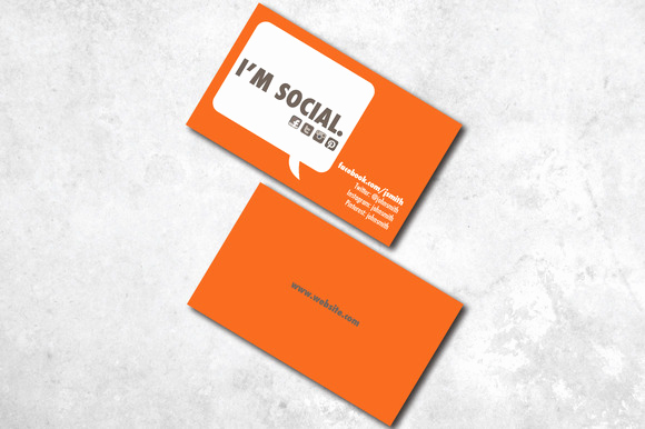 Social Media On Business Cards Awesome I M social Business Card Business Card Templates On