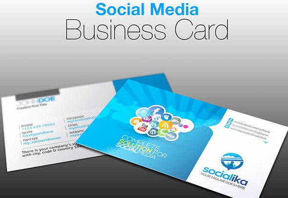 Social Media On Business Cards Beautiful 24 Nice social Media Business Card Psds – Design Freebies