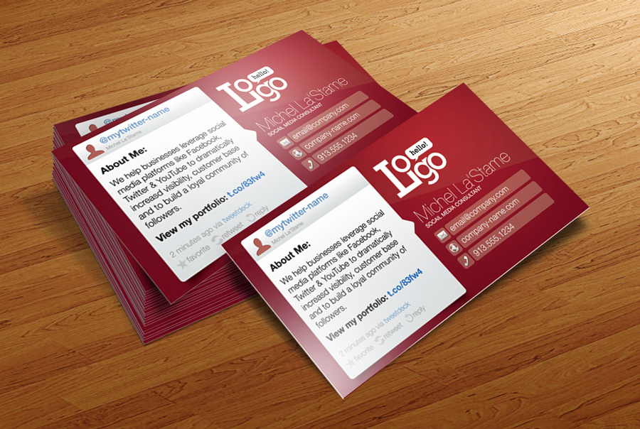 Social Media On Business Cards Beautiful social Media Business Card Template