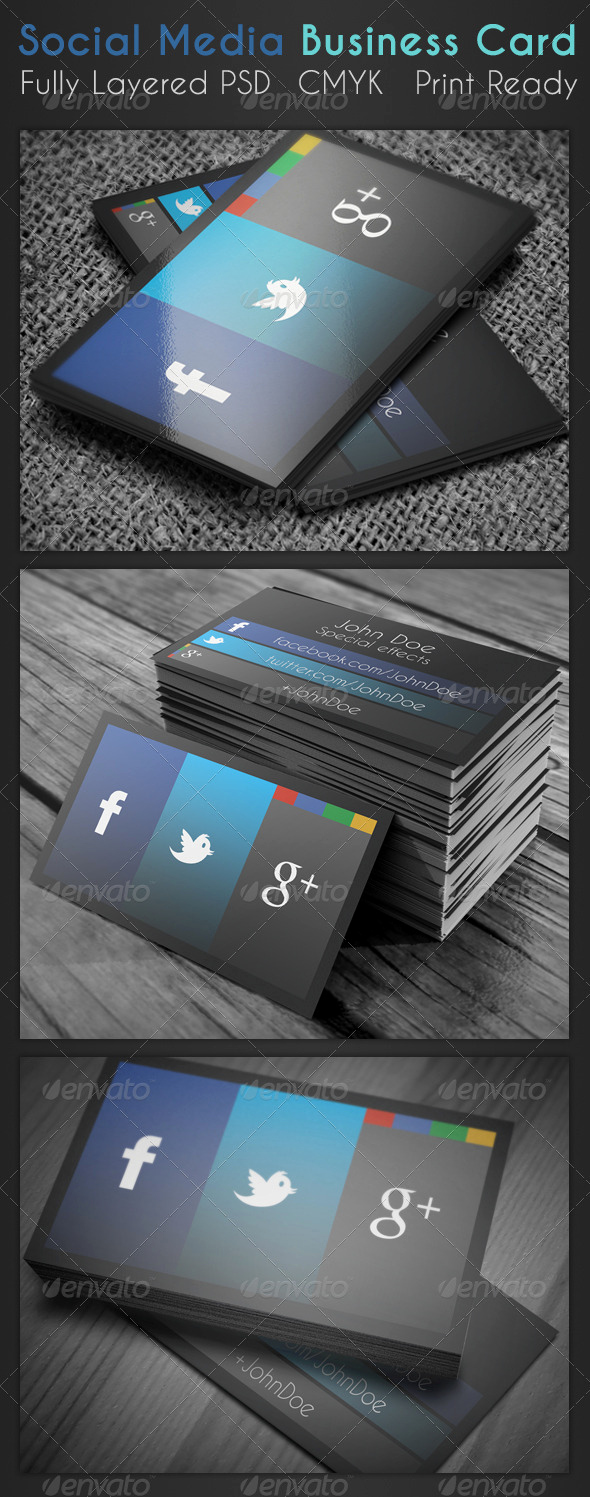 Social Media On Business Cards Fresh social Media Business Card Dondrup