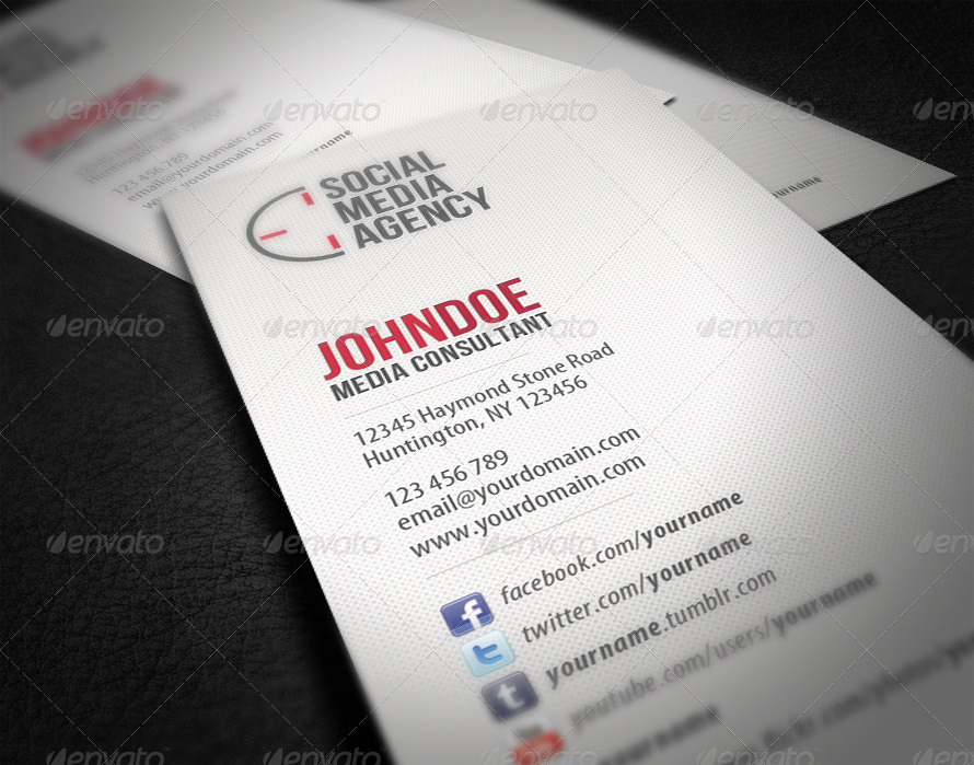 Social Media On Business Cards Lovely social Media Business Card by Glenngoh